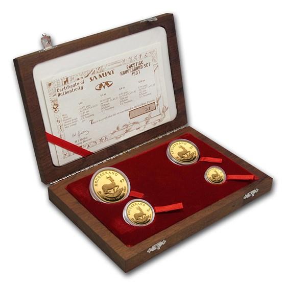 1997 South Africa 4-Coin Gold Krugerrand Prestige Proof Set