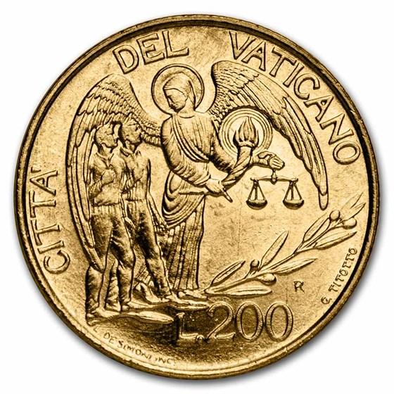 1997 Vatican City Guardian Angel 200 Lire Blistercard BU