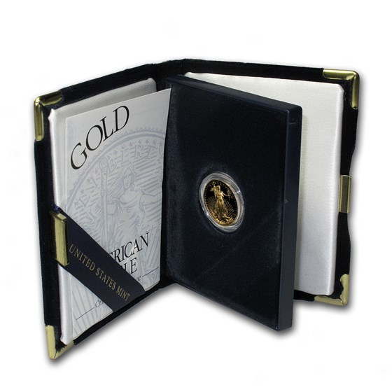 1997-W 1/10 oz Proof American Gold Eagle (w/Box & COA)