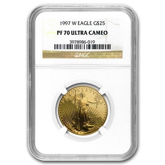 1997-W 1/2 oz Proof American Gold Eagle PF-70 UCAM NGC