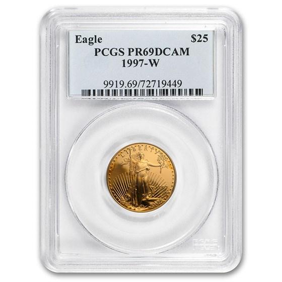 1997-W 1/2 oz Proof American Gold Eagle PR-69 DCAM PCGS