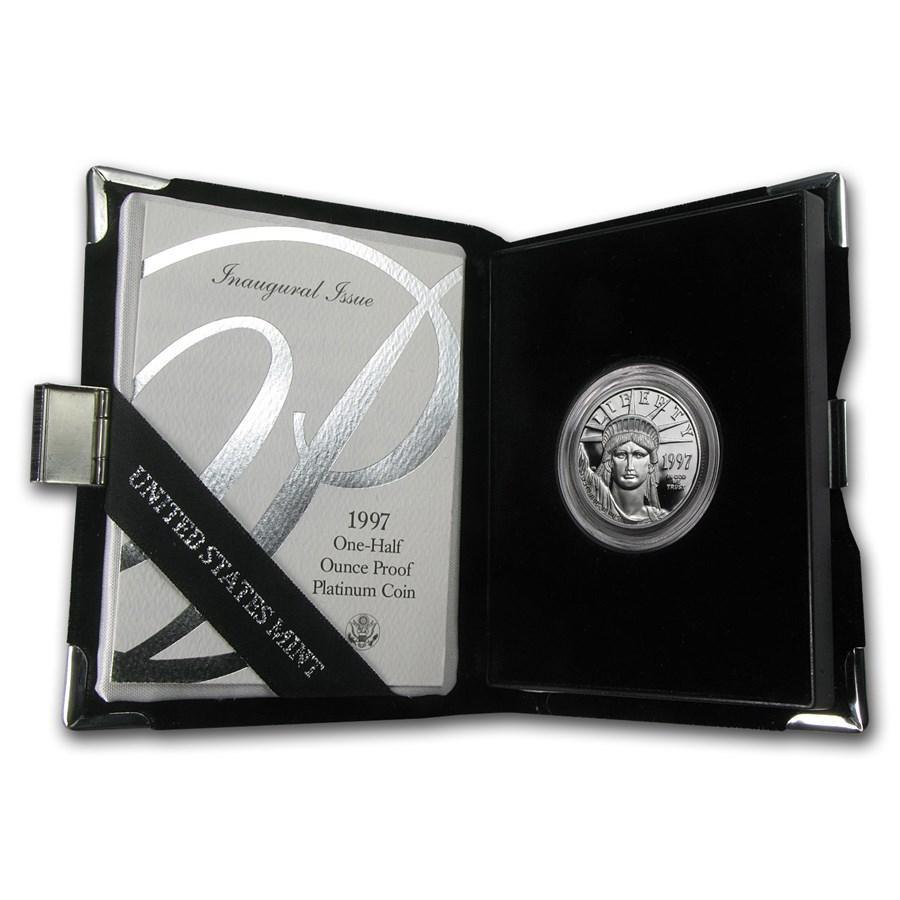 1997-W 1/2 oz Proof American Platinum Eagle (w/Box & COA)