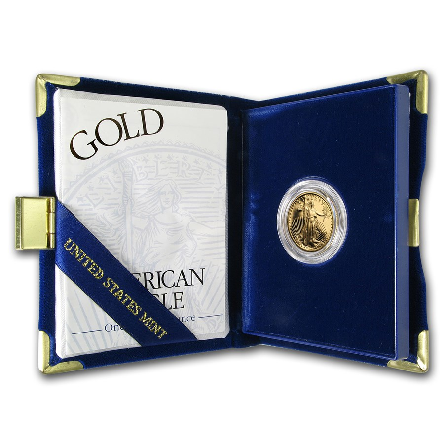 1997-W 1/4 oz Proof American Gold Eagle (w/Box & COA)