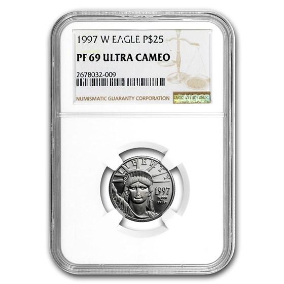 1997-W 1/4 oz Proof American Platinum Eagle PF-69 NGC
