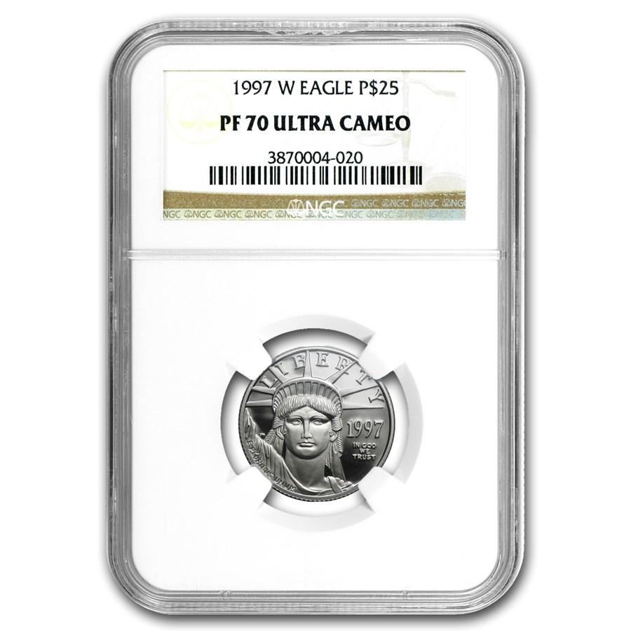 1997-W 1/4 oz Proof Platinum American Eagle PF-70 NGC