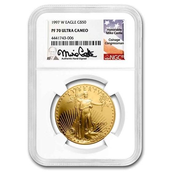 1997-W 1 oz Proof American Gold Eagle PF-70 NGC (Castle)