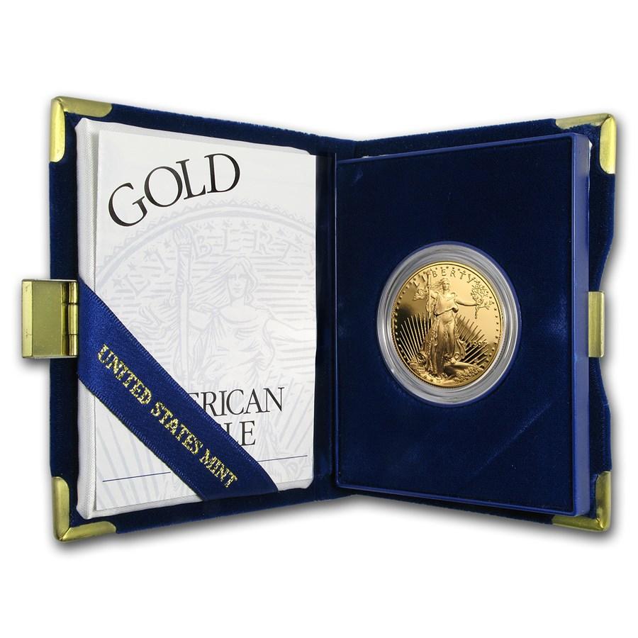 1997-W 1 oz Proof American Gold Eagle (w/Box & COA)