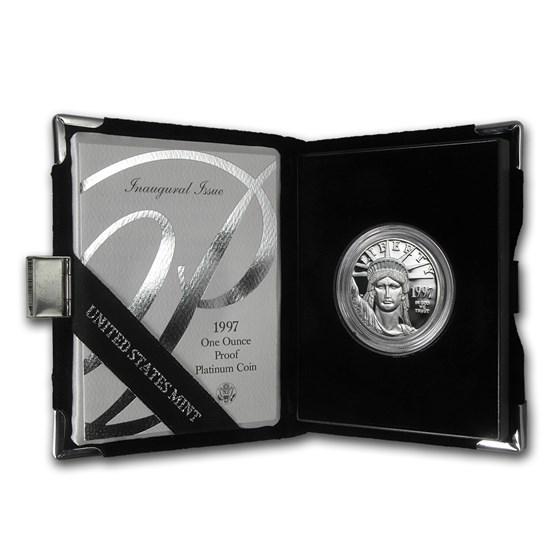 1997-W 1 oz Proof American Platinum Eagle (w/Box & COA)