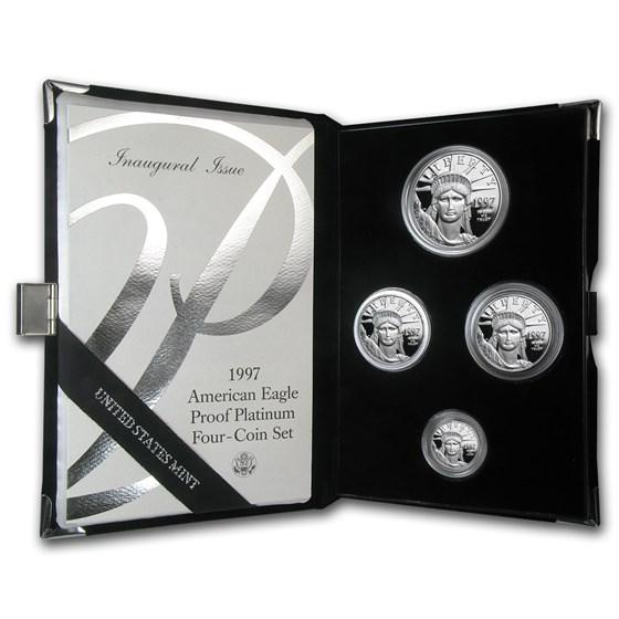 1997-W 4-Coin Proof American Platinum Eagle Set (w/Box & COA)
