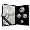 1997-W 4-Coin Proof Platinum American Eagle Set (w/Box & COA)