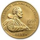 1997-W Gold $5 Commem Franklin D. Roosevelt BU (Capsule only)