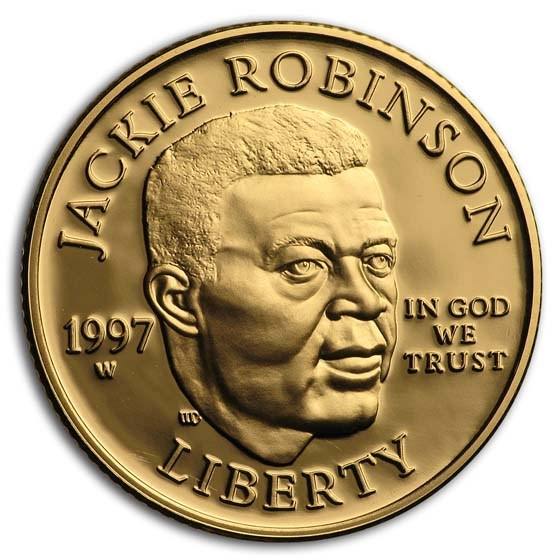 1997-W Gold $5 Commem Jackie Robinson Proof (Capsule Only)