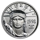 1998 1/10 oz American Platinum Eagle BU