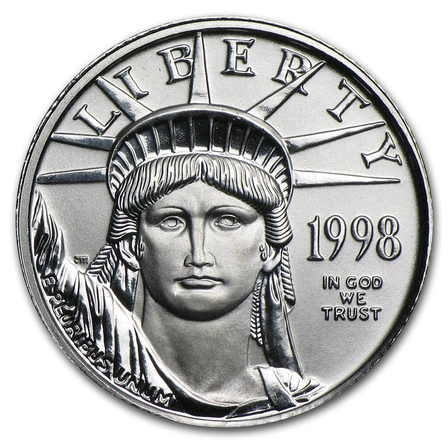 1998 1/10 oz American Platinum Eagle BU