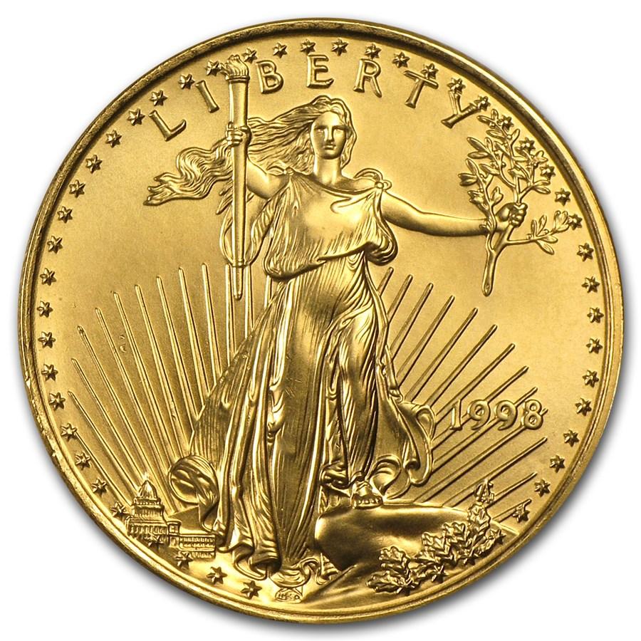 1998 1/2 oz American Gold Eagle BU