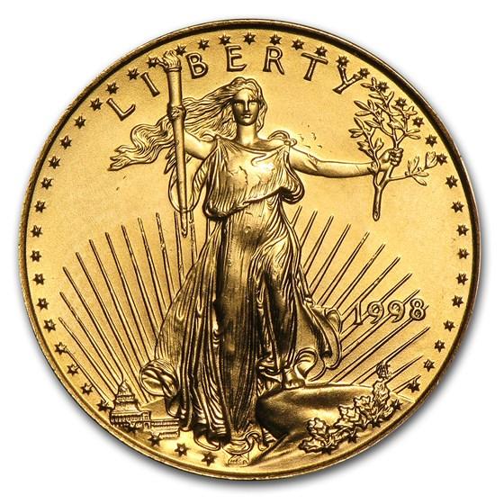 1998 1/4 oz American Gold Eagle BU