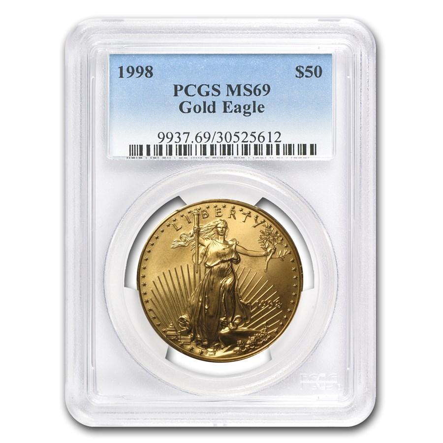 1998 1 oz American Gold Eagle MS-69 PCGS