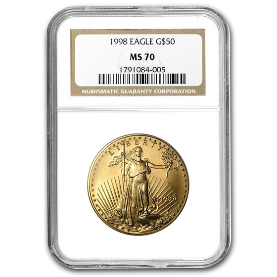 1998 1 oz American Gold Eagle MS-70 NGC