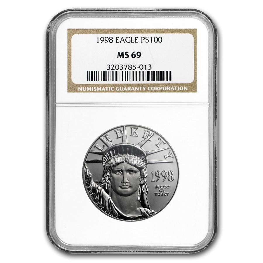 1998 1 oz American Platinum Eagle MS-69 NGC
