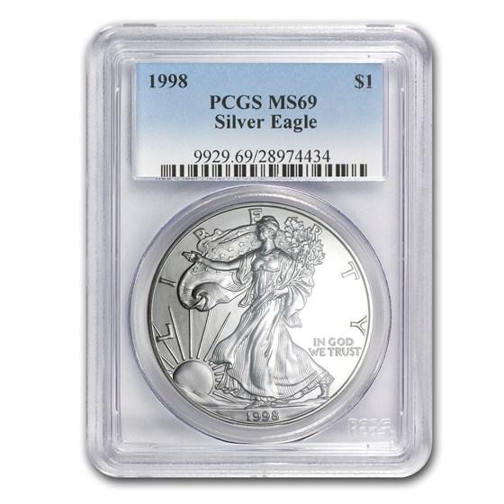 1998 American Silver Eagle MS-69 PCGS