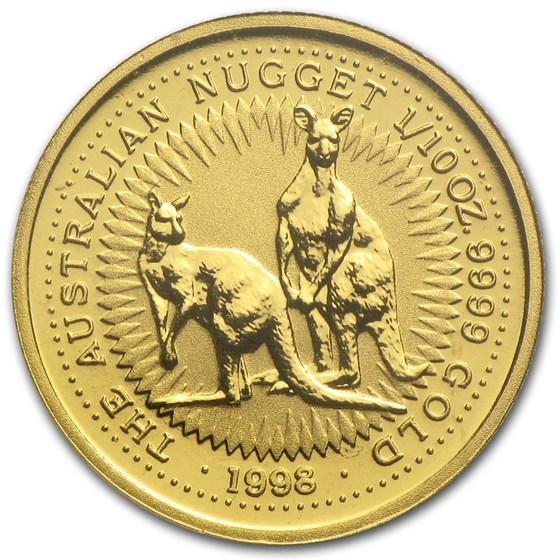 1998 Australia 1/10 oz Gold Nugget