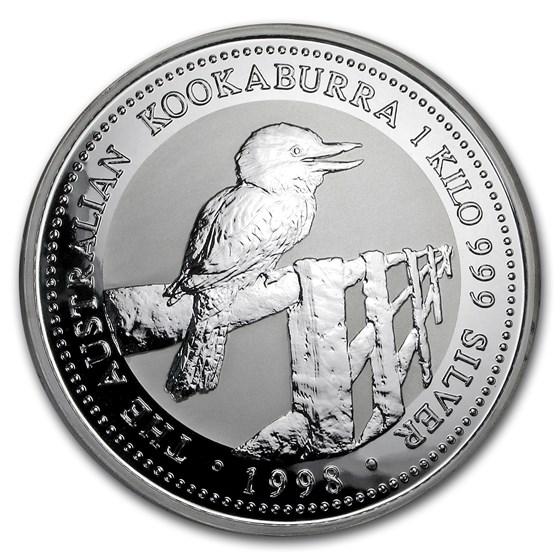 1998 Australia 1 kilo Silver Kookaburra BU