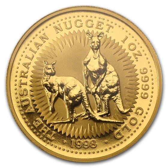 1998 Australia 1 oz Gold Nugget BU