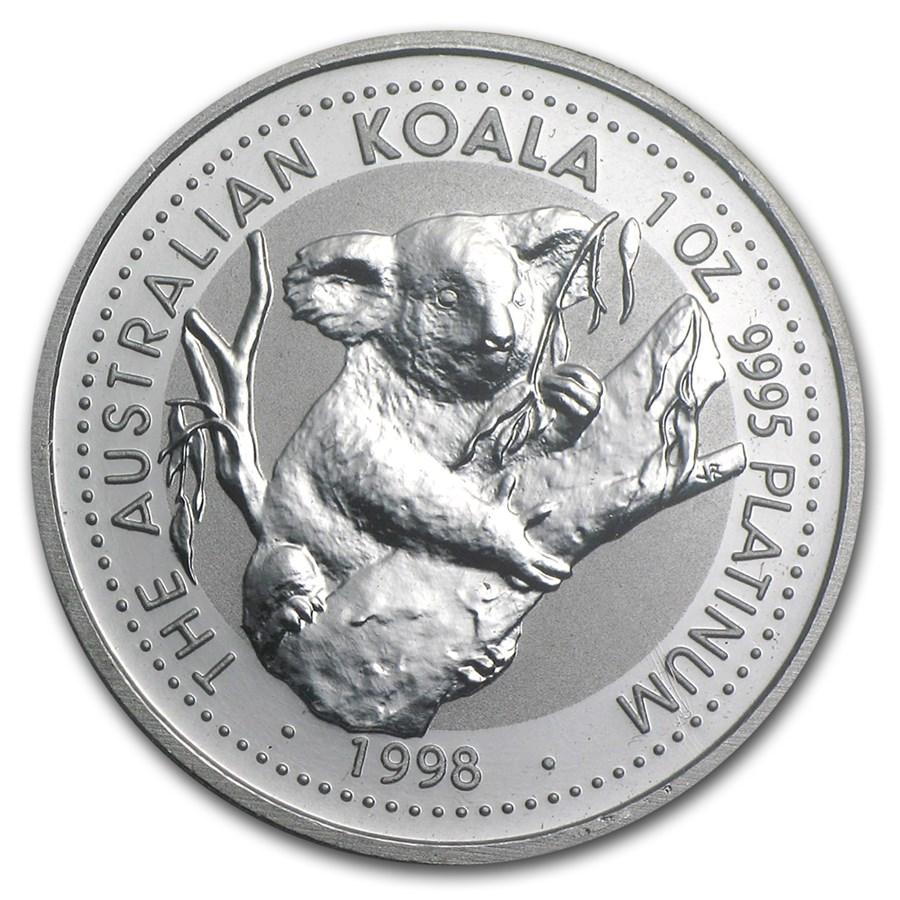 1998 Australia 1 oz Platinum Koala BU