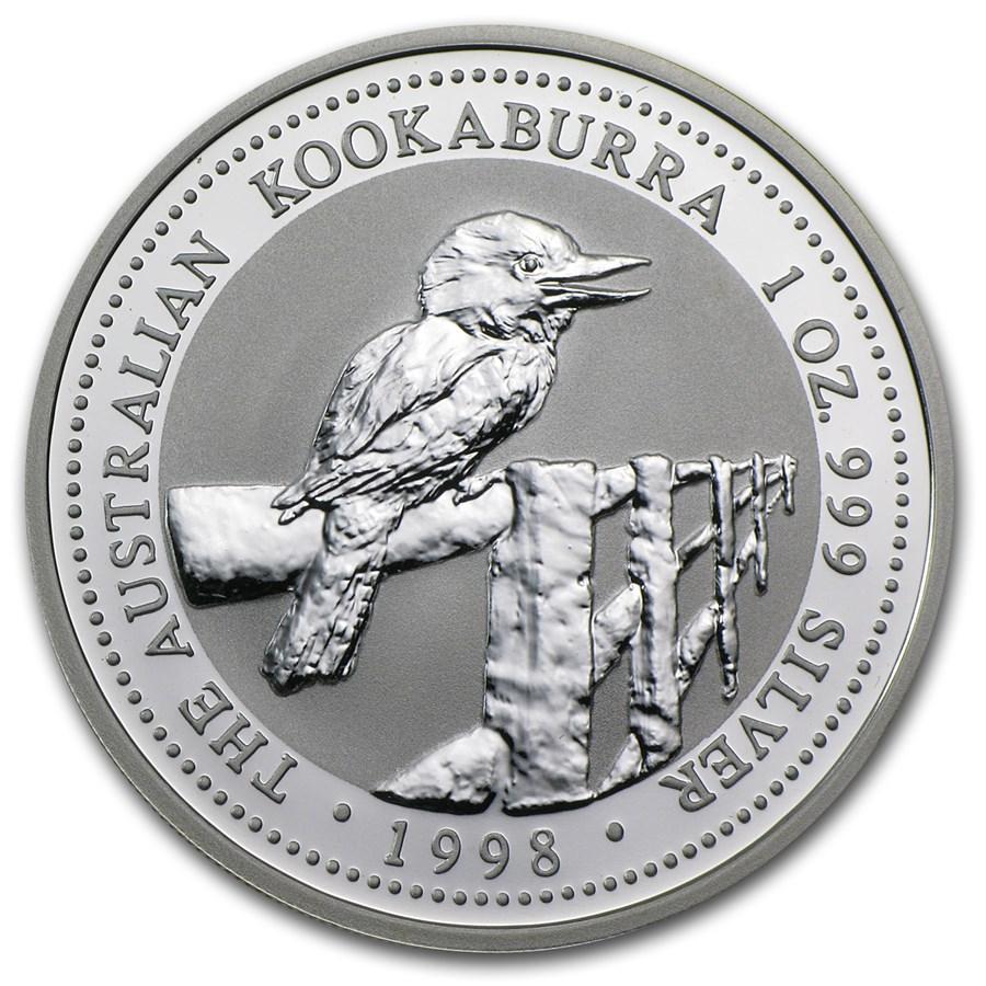1998 Australia 1 oz Silver Kookaburra BU