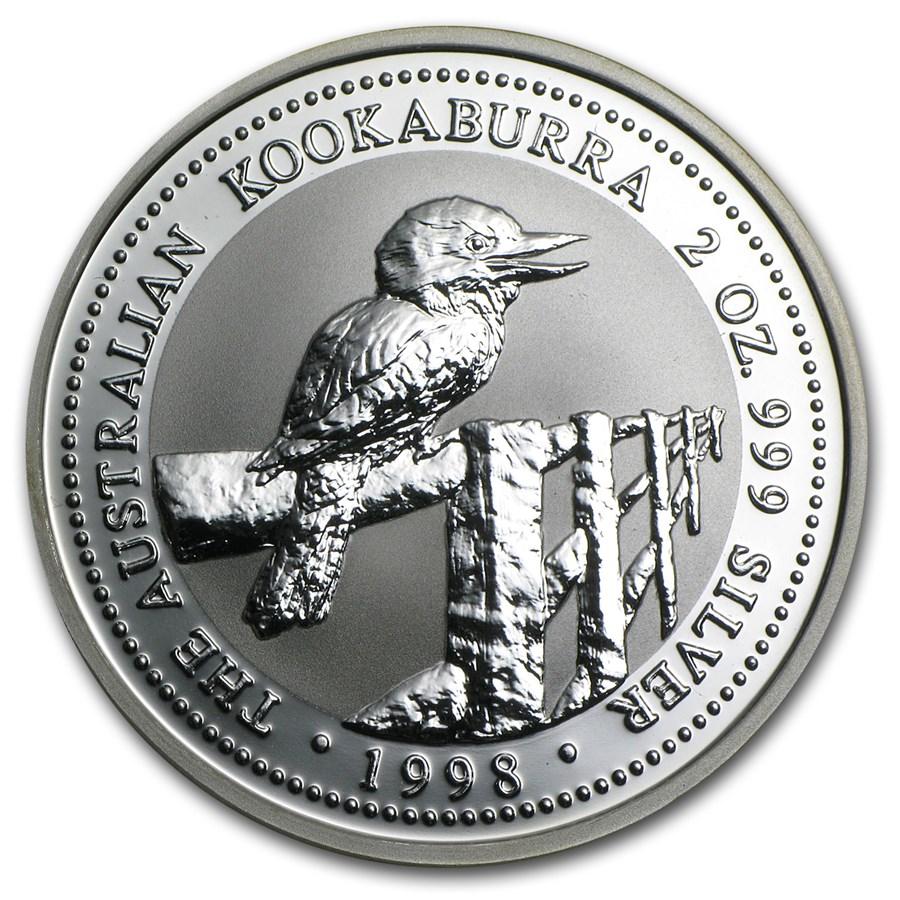 1998 Australia 2 oz Silver Kookaburra BU