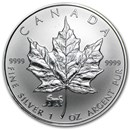 1998 Canada 1 oz Silver Maple Leaf Lunar Tiger Privy