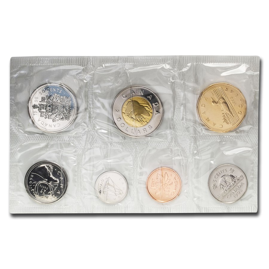 1998 Canada 7-Coin Proof Like Set