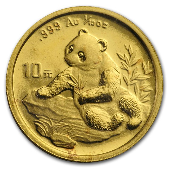 1998 China 1/10 oz Gold Panda Small Date BU (Sealed)