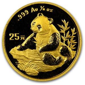 1998 China 1/4 oz Gold Panda BU (Not Sealed)
