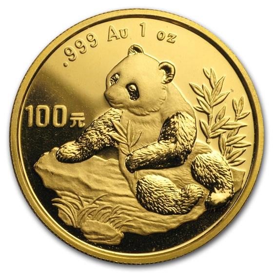 1998 China 1 oz Gold Panda Small Date BU (In Capsule)