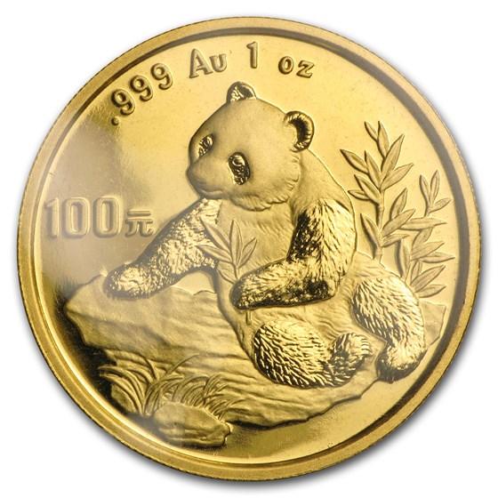 1998 China 1 oz Gold Panda Small Date BU (Sealed)