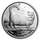 1998 Isle of Man 1 oz Silver Birman Cat Proof