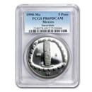 1998 Mexico 1 oz Silver 5 Pesos Sacerdote PR-69 PCGS