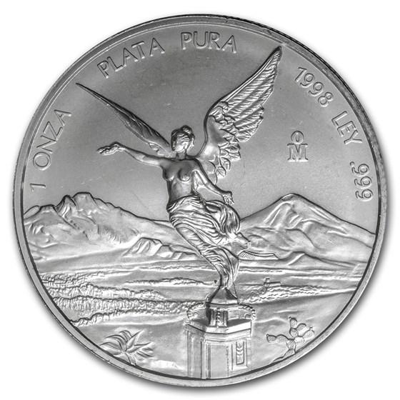 1998 Mexico 1 oz Silver Libertad BU