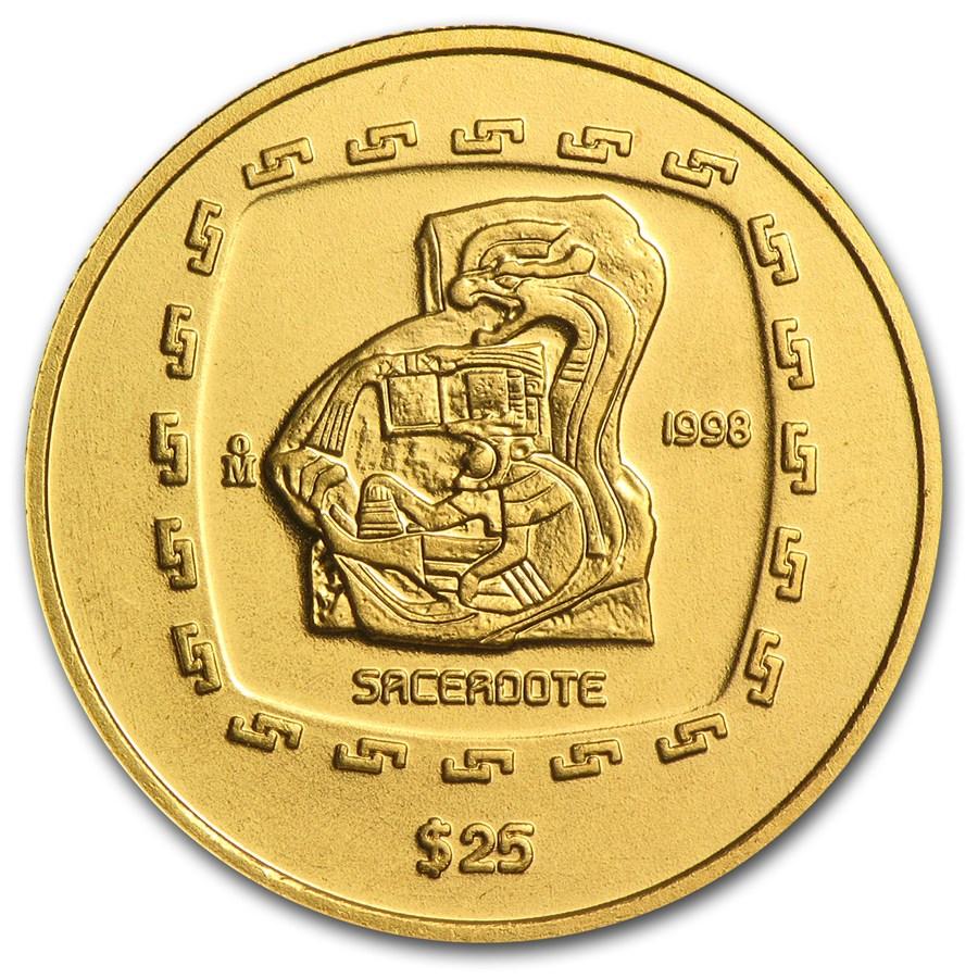 1998 Mexico Gold 25 Pesos Sacerdote BU