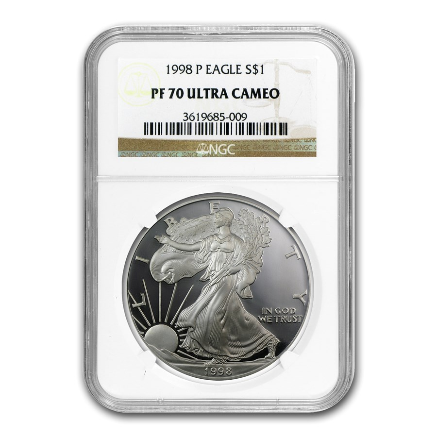 1998-P Proof American Silver Eagle PF-70 NGC