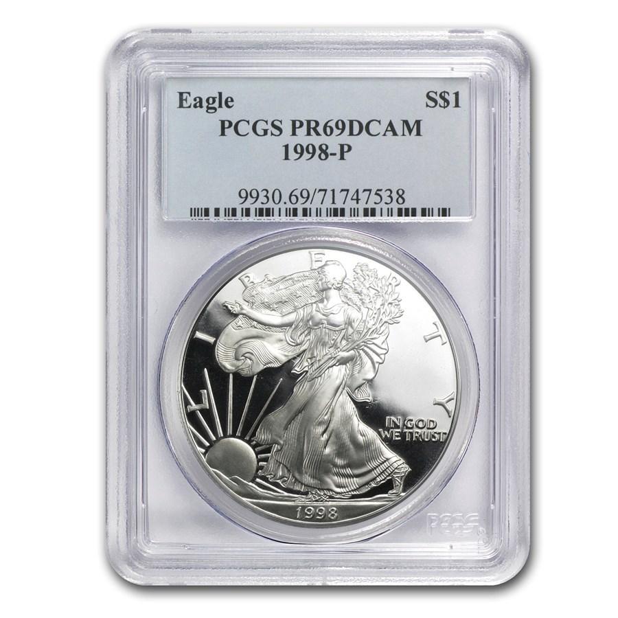 1998-P Proof American Silver Eagle PR-69 PCGS