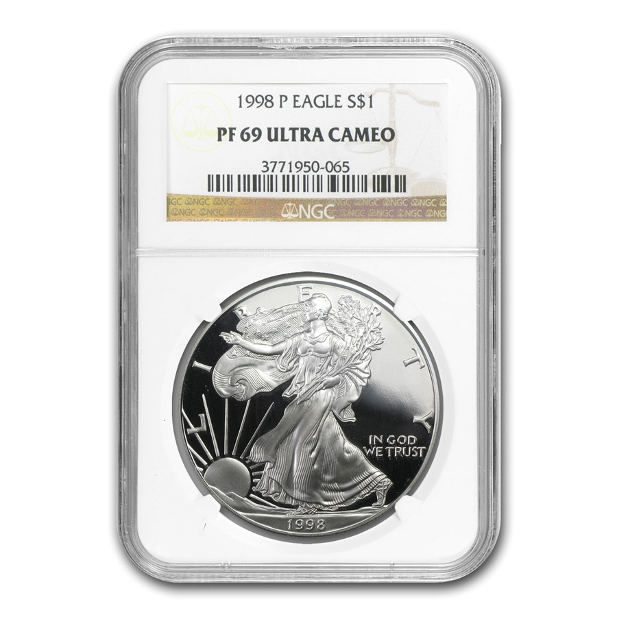 1998-P Proof Silver American Eagle PF-69 NGC