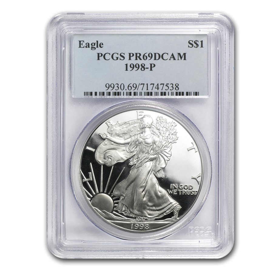 1998-P Proof Silver American Eagle PR-69 PCGS