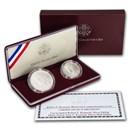 1998-S 2-Coin Robert Kennedy Set BU (w/JFK Matte Half, Box/COA)