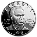1998-S Black Patriots $1 Silver Commem Proof (w/Box & COA)