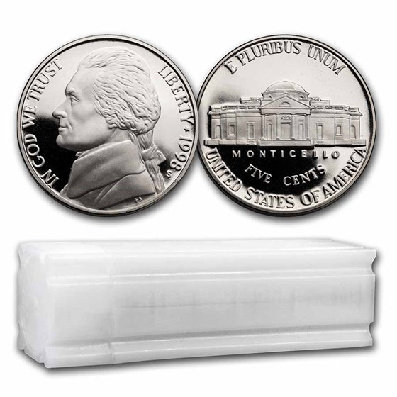 1998-S Jefferson Nickel 40-Coin Roll Proof