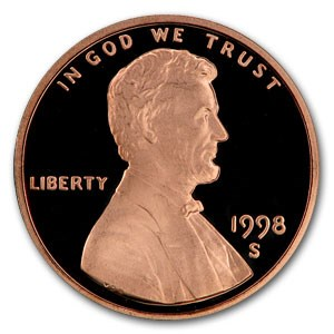 1998-S Lincoln Cent Gem Proof (Red)
