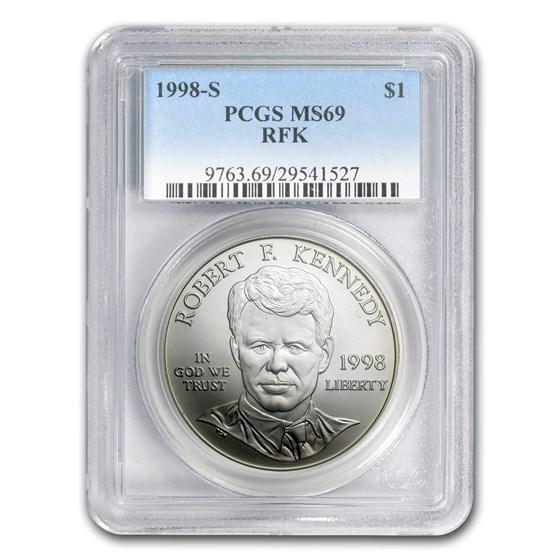 1998-S Robert F. Kennedy $1 Silver Commem MS-69 PCGS