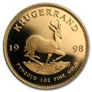 1998 South Africa 1 oz Gold Krugerrand BU